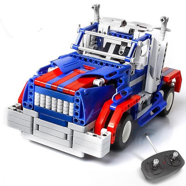 Cars toys control remoto kit de montaje de bloques de construcción de los niños y otoño resistencia velocidad rápida operación sensible estupendo coche de rc