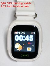 White Q90 GPS Tracking watch Touch Screen WIFI location Smart Watch Children SOS Call Finder Tracker for Kids Safe GPS watch