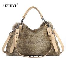 Women Autumn Winter Warm Handbags For Women Brand Female Faux Fur Shoulder Bags Big Large Capacity