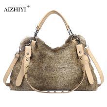 Women Autumn Winter Warm Handbags For Women Brand Female Faux Fur Shoulder Bags Big Large Capacity CrossBody Bag 37x28x13cm