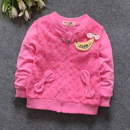 (1 cái/lô) 100% cotton 2018 Dễ Thương áo khoác ngoài bé gái 0-1 năm tuổi 73-80 cm