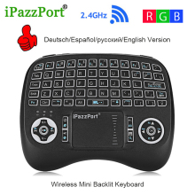 лучшая цена Original Wireless Mini Keyboard KP-810-21TL Micro USB Backlight Function Air Mouse with Touchpad for Mini PC Xbox Android TV Box