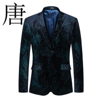 Tang cool Blazer Men 2019 New brand Mens Floral Blazer M 5XL 6XL Casual Suit Jacket Brand Clothing Male Prom Blazers