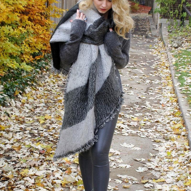 1pcs fashion Women Thick Warm Wool Pashmina Cashmere Stole Winter   Scarves     Scarf   Shawl   Wraps