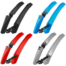 2x Adjustable Mountain Bike Bicycle Front Rear Fenders Mudguards Black Set Cycle Parts for Accessories Ciclismo