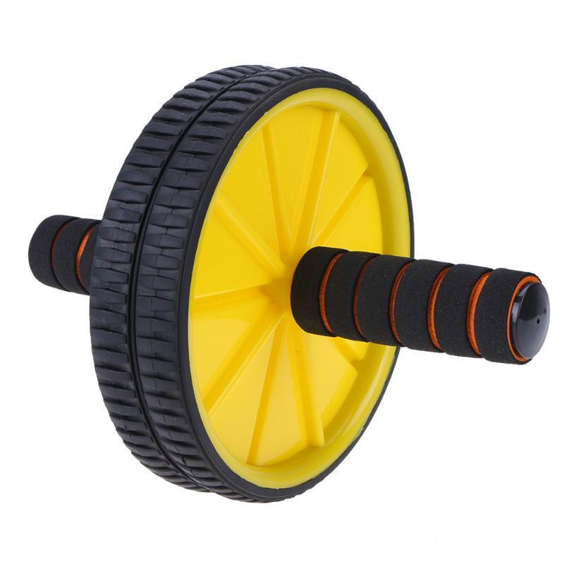 Ruedas de prensa abdominales Ab actualizadas de dos ruedas equipo de ejercicio Crossfit para la construcción del cuerpo para el gimnasio Fitness en casa