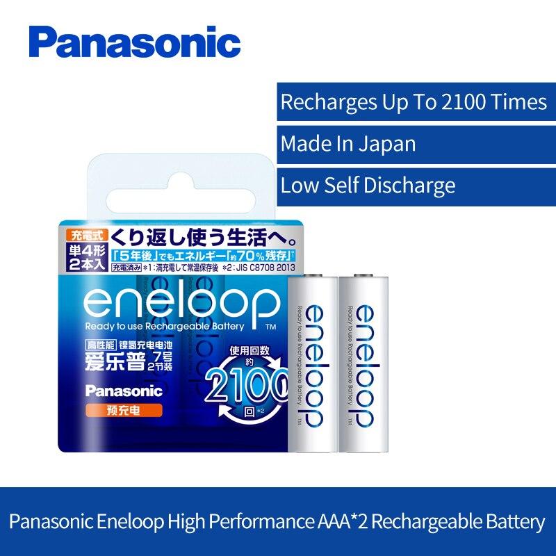 Original Panasonic AAA Akku 2 teile/los 1,2 V 800 mAh Ni-Mh Vorgeladenen Batterien Für Spielzeug Kamera Mikrofon eneloop