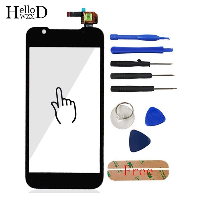 A+++ HighScreen Front Outer Glass High Touch Panel Digitizer Screen Panel For ZTE Grand Era V985 U985 V955 Lens Cable Flex Cable