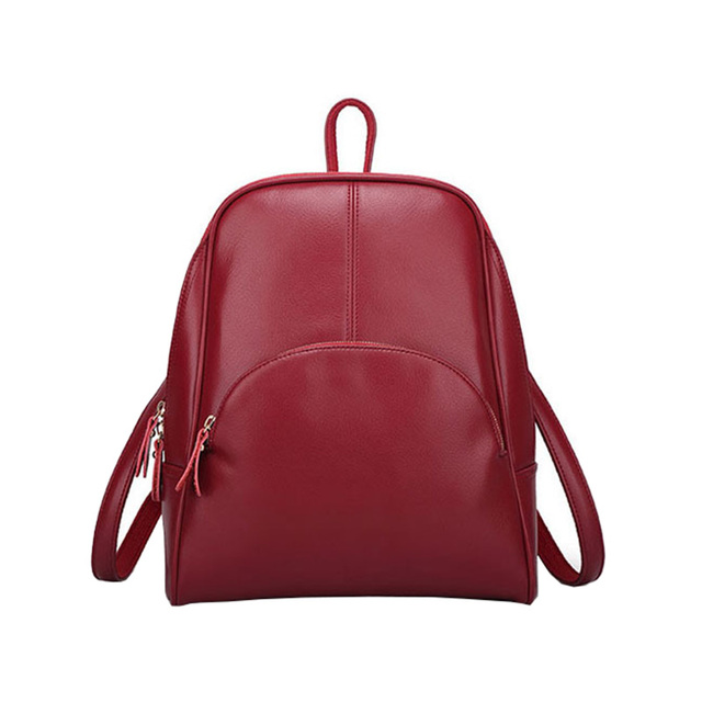 Aliexpress.com : Buy Leather Backpack Women School Bags Girls High ...