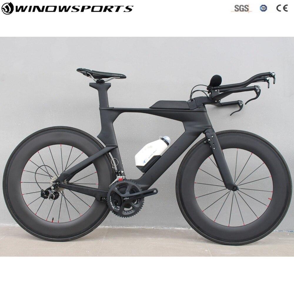 Vélo de piste de temps TT carbone vélo de route en carbone vélo complet 22 vitesses avec groupe R7000/R8000 vélo complet TT en carbone