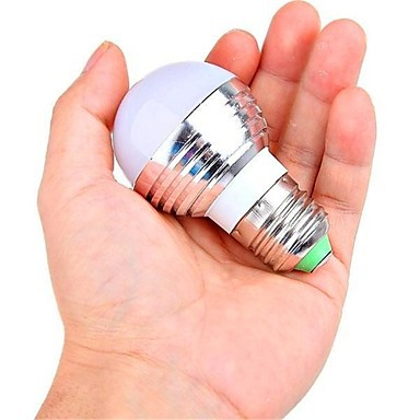 ФОТО 5PCS   E26/E27 3 W 1 High Power LED 180 LM RGB Remote-Controlled Globe Bulbs AC 85-265 V