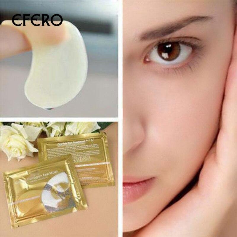 цена на EFERO 5Pairs Collagen Crystal Eye Mask Gel Eye Patch Pad Mask For Eye Care Eliminates Dark Circles Moisturizing Cream Puffiness
