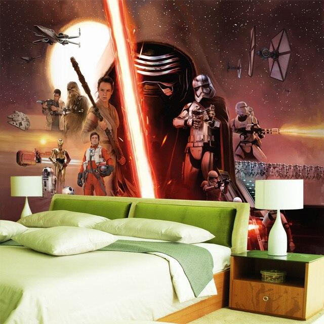 3D Star Wars Tapete Kraft Weckt Wandbild Individuelle Fototapeten ...