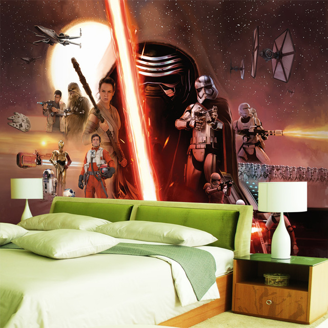 3d Star Wars Wallpaper Force Awakens Wall Mural Custom Photo