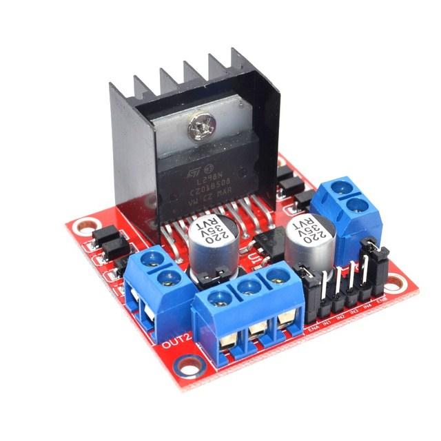 Free Shipping 1PCS New Dual H Bridge DC Stepper Motor Drive Controller Board Module L298N for Arduino