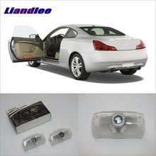 Liandlee For Infiniti G Series 2007~2013 Door Ghost Shadow Lights Car Brand Logo LED Projector Welcome Light Courtesy Doors Lamp liandlee car door ghost shadow lights for acura mdx acura zdx courtesy doors lamp brand logo led projector welcome light