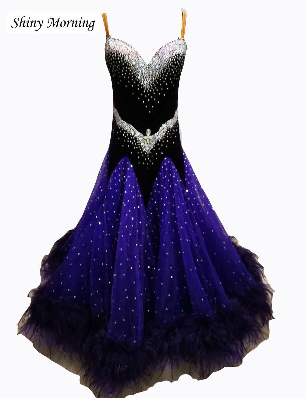 ballroom dress waltz modern dance dress ballroom dance competition dresses dancing clothes tango dr black blue