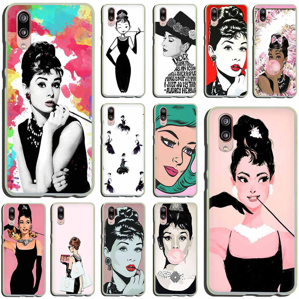 Audrey Hepburn Hard Phone Case for Huawei P30 P20 P8 P9 P10 Plus Lite Mini 2015 2016 2017 Pro smart 2019