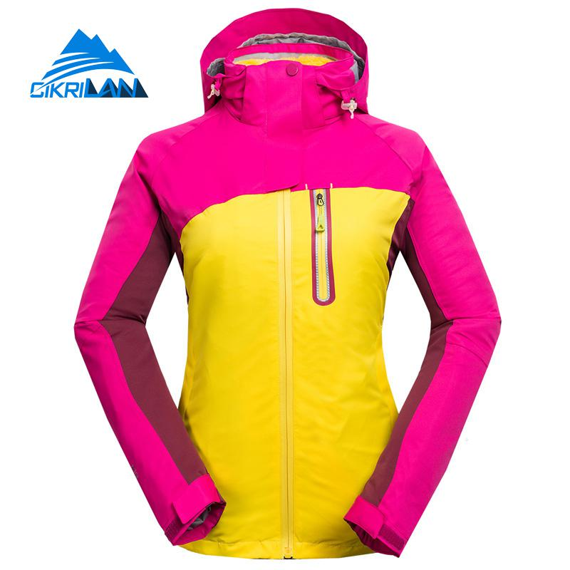 New Winter 3in1 Outdoor Sport Camping Hiking Coat Windbreaker Waterproof Jacket Women Chaquetas Mujer Climbing Jaqueta Feminina