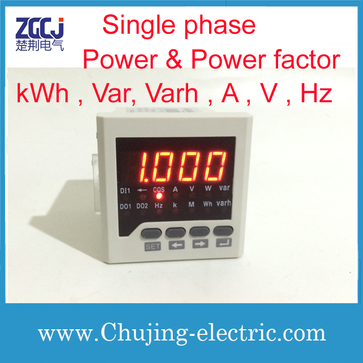 Single phase power meter and power factor meter high quality high accuracy power meter multifunction meterSingle phase power meter and power factor meter high quality high accuracy power meter multifunction meter