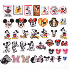 1pc Embroidered Patch Micky Mouse Pattern Badge Stickers Cartoon Patches For Kids Clothing Backpack Applique Multicolor Optional(China)