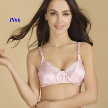 a298df4c0f LOVILK 100% lace bra double-faced ultrathin underwear women pure silk sexy  lingerie