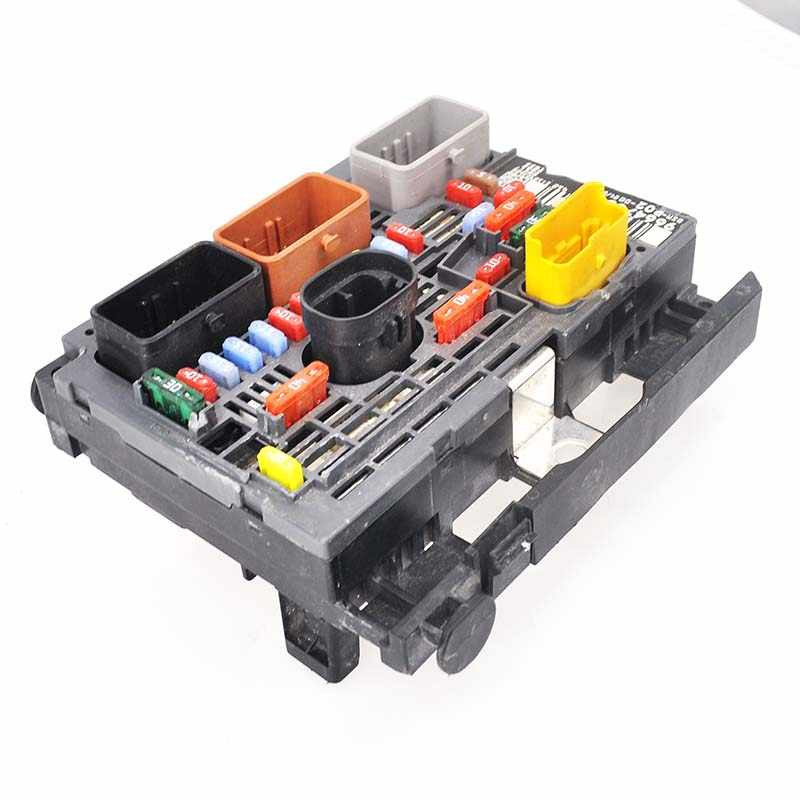 baificar genuine fuse box unit assembly under bonnet controller  9664705980 bsm r02 for peugeot 407 citroen
