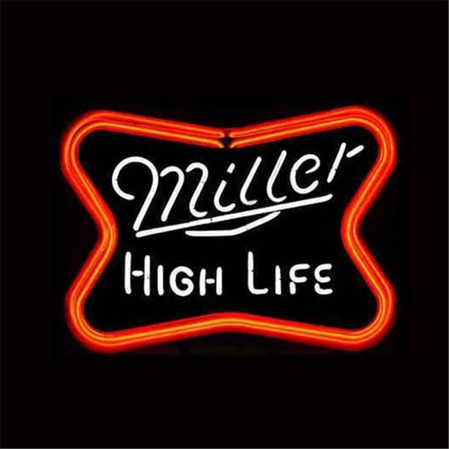 1714 miller high life neon sign real glass beer bar pub light 1714 miller high life neon sign real glass beer bar pub light signs aloadofball Images