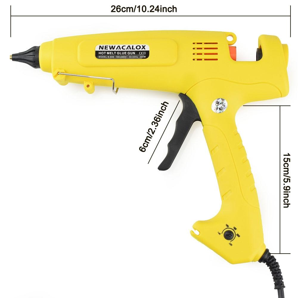 NEWACALOX EU Plug 300W 100-240V Hotmelt Lijmpistool 11mm Lijmstiften - Elektrisch gereedschap - Foto 6