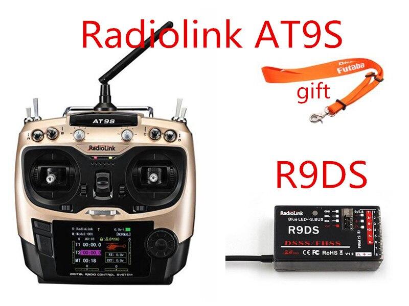 Transmetteur de mise à niveau RadioLink AT9S 2.4 GHz 10CH AT9 avec récepteur R9DS DSSS et FHSS pour Drone RC Multicopter