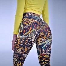 push up yoga leggings plus size pants women seamless/sport/gym sport fitness Leopard high waist