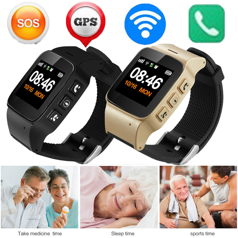 2018 D99 Elderly Smart Watch Anti lost SOS Wifi GPS LBS Tracking Sim Card Waterproof Smartwatch Gps Tracking Watch For Adult