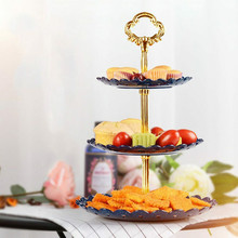 1 шт. 3-уровневый кекс Дисплей Стенд Подставка для торта свадебное мероприятие вечерние круглая башня Тарелка десертная тарелка Органайзер домашних настольных украшения