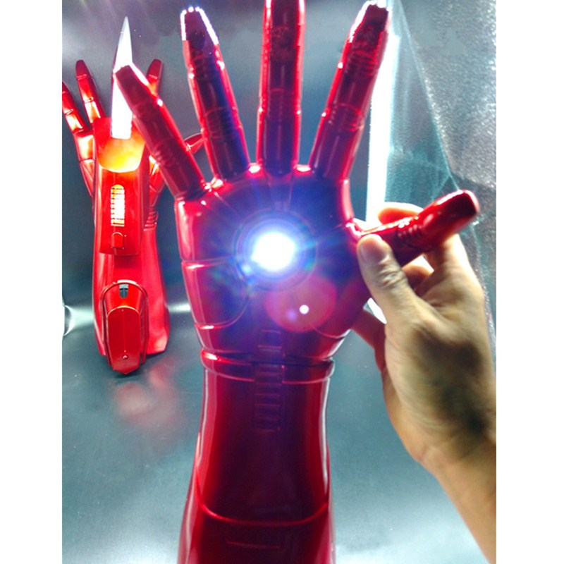 Avengers:Infinity War Superhero Iron Man Gloves With LED Tony Stark 1:1 Sleeve Sword Cosplay PVC Collectible Model Toy L2104 avengers iron man helmet wearable computer tony stark cosplay mask with led light war damage version for children model toy