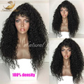 180% Density Glueless Human Hair Full Lace Wig And Lace Front Wigs For Black Women Indian Human Hair Curly Wig Natural Black