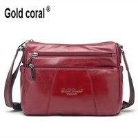 New Fashion Women Messenger Bag Genuine Leather Shoulder Crossbody Bag Brand Handbag Women Clutch Bag Purse