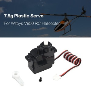 Image 1 - 7.5g Plastic Gear Analog RC Servo 4.8 6V for Wltoys V950 RC Helicopter Airplane Part Replacement Accessaries
