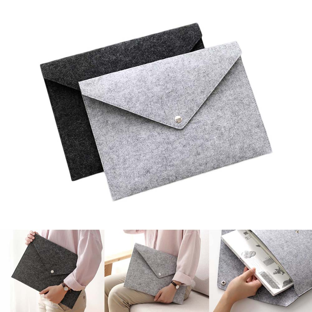 Clearance Sale Items Simple Solid A4 Big Capacity Document Bag Briefcase File Folders Felt Filing Bags Business Traveling Use