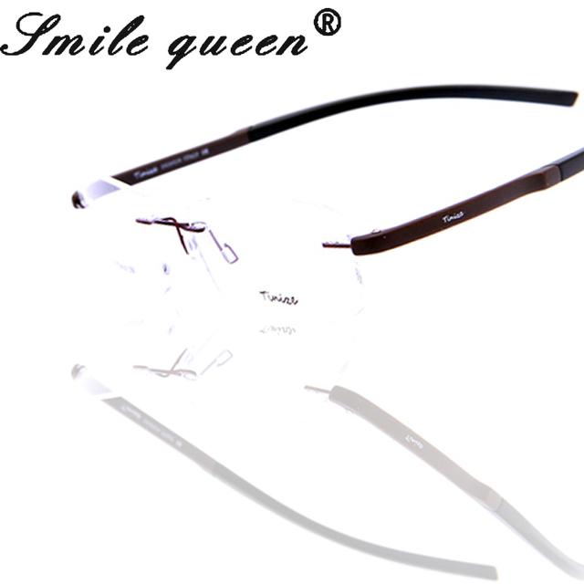 2016 Nova Tinize Memória Armações De Óculos De Titânio Puro Sem Aro Óculos Mulheres Miopia Armações