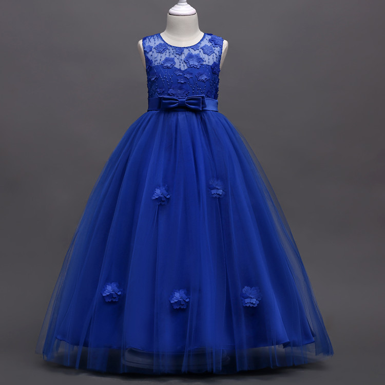 Ball Gown Girl Party Dress Formal Prom Evening Clothes 5 6 7 8 12 Years