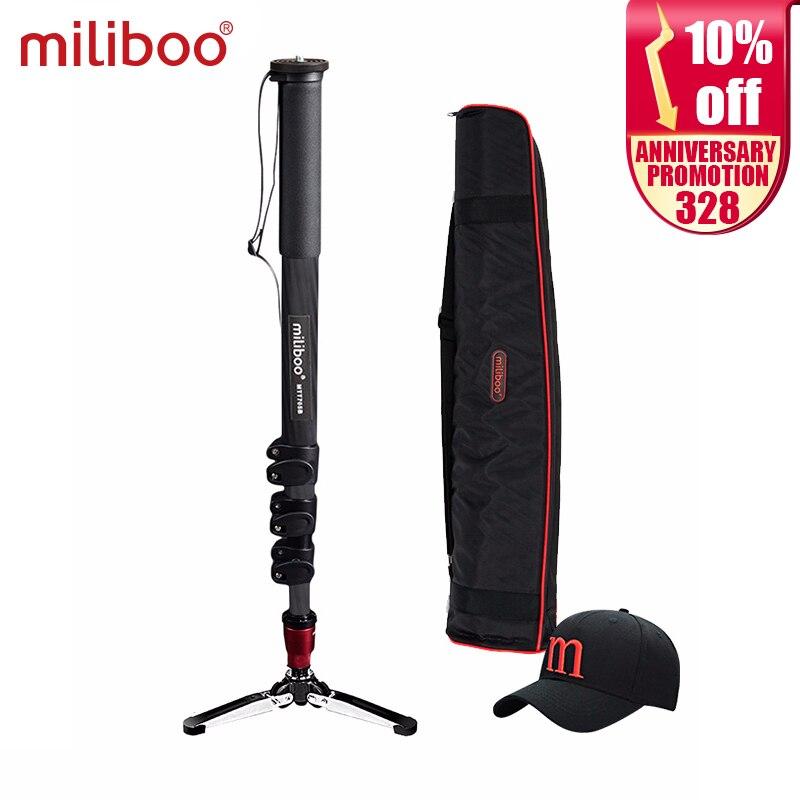 Miliboo MTT705B портативный монопод из углеродного волокна для Professional DSLR/камера/VideoCamcorder штатив Стенд половина цена manfrotto