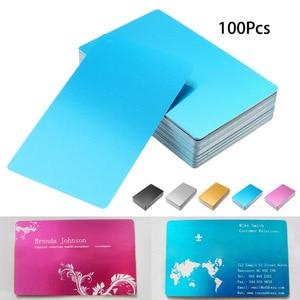 Image 3 - بطاقة معدنية منقوشة بالليزر 100 قطعة من سبائك الألومنيوم سوداء فضية اللون مناسبة لزيارة الأعمال التجارية بطاقات مفرغة بسمك 0.22 مللي متر 3.4 × 2.1 بوصة