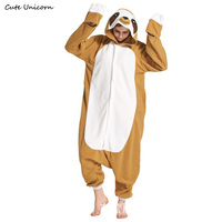 Sloth Flash Polar Fleece Animal Pajamas Unisex Adults Cosplay Pyjama Cartoon Zootopia Onesies Sleepwear Hoodie Homewear