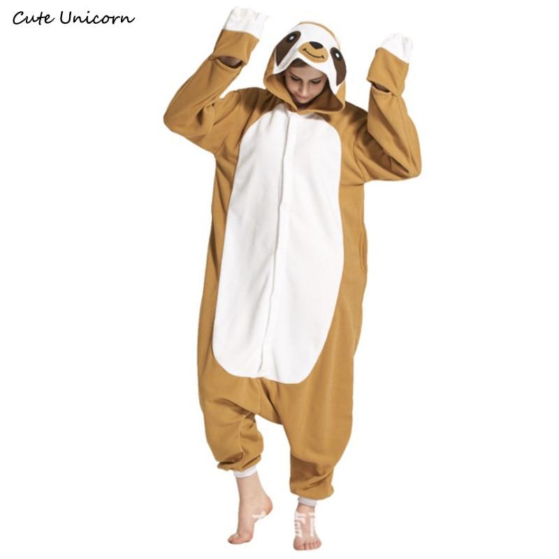 Sloth Flash polar fleece animal Pajamas unisex adults Cosplay Pyjama Cartoon Zootopia Onesies Sleepwear Hoodie homewear Robe