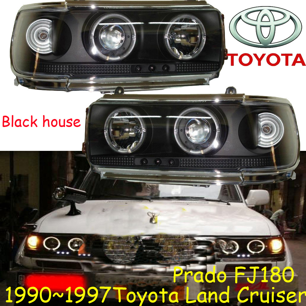 Prado Cruiser headlight,1990~1997,FJ80,LC80,Free ship! Prado Cruiser fog light,2ps/set+2pcs Ballast,Prado Cruiser driver light