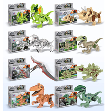 Dinosaurs Park Jurassic World Figures Building horse Tyrannosaurus Assemble Blocks Classic Kids Toy BKX30