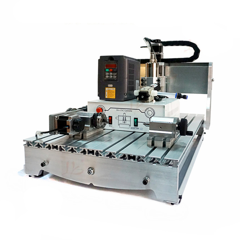 Russia no tax CNC Router 6040 Z-S800 4 axis engraving machine for wood metal cutting no tax to russia 4 axis cnc engraving machine 6040 300w cnc router cnc lathe with rotary axis for wood carving can do 3d
