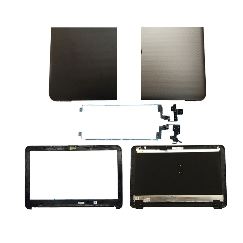 New laptop cover For HP 15-A 15-AC 15-AF 250 255 256 G4 15-AC121DX LCD Back Cover/LCD front bezel/Hinges 813925-001 new purple lcd back cover w hinges w bezel for dell inspirion 1545 4hkv5 glossy