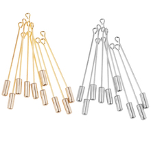 MagiDeal 20pcs Stainless Steel Long Needle Stick DIY Scarf Collar Lapel Pin Findings