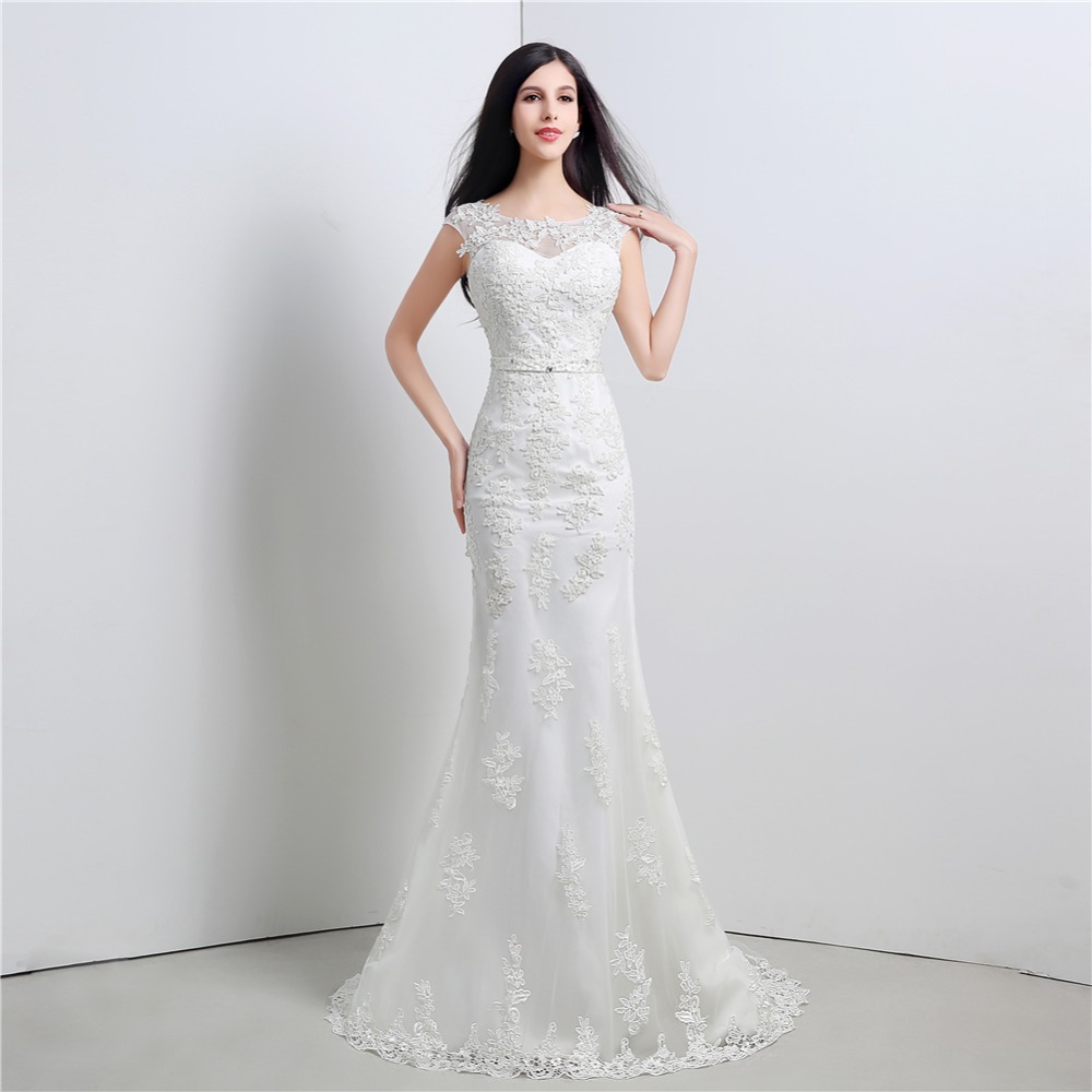 ruthshen Modest Mermaid Wedding Dresses Cheap 2018 New Appliques ...